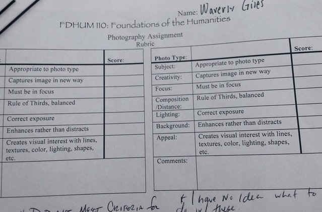Student says she failed art project for bizarre reason
