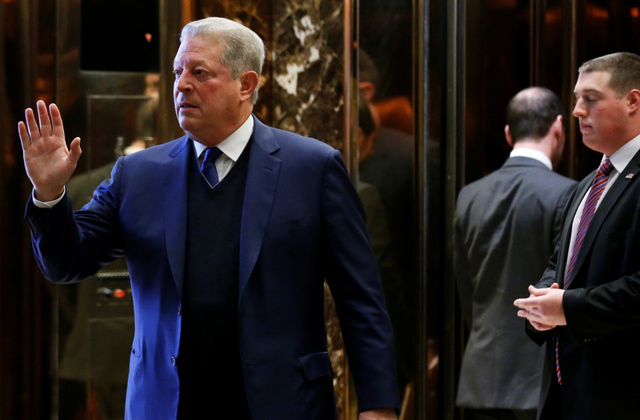 Gore has surprising reaction after talking with Trump