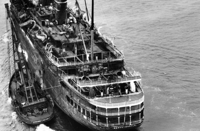 What happened aboard this cruise ship in 1934?