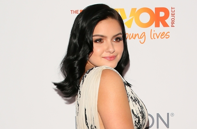 Ariel Winter puts on busty display in sexy gown